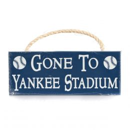 My Word Gone to Yankee Stadium Wood Sign