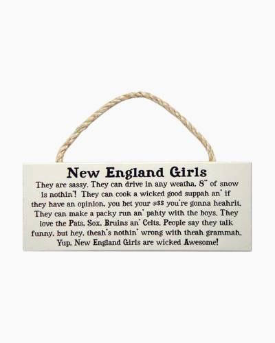 New England Girls Wooden Sign
