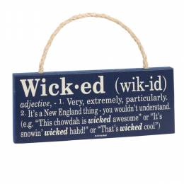My Word Wicked Hanging Sign
