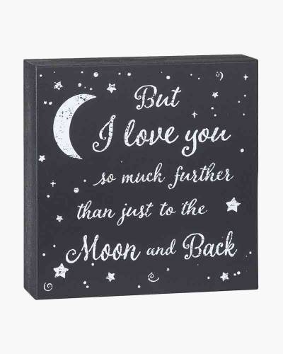 Love You More than to the Moon Wooden Sign
