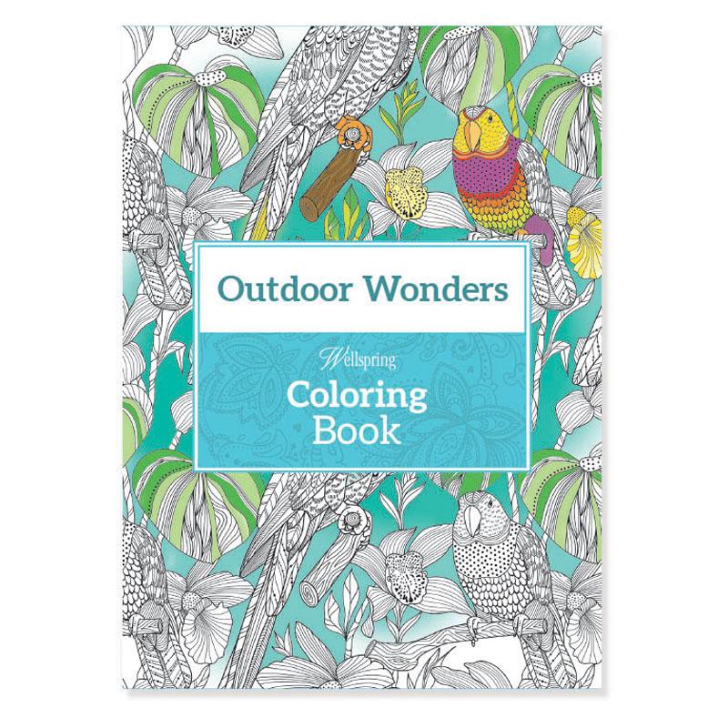 wellspring outdoor wonders travel coloring book - Travel Coloring Book