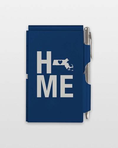 Massachusetts Home Aluminum Notepad and Pen Set