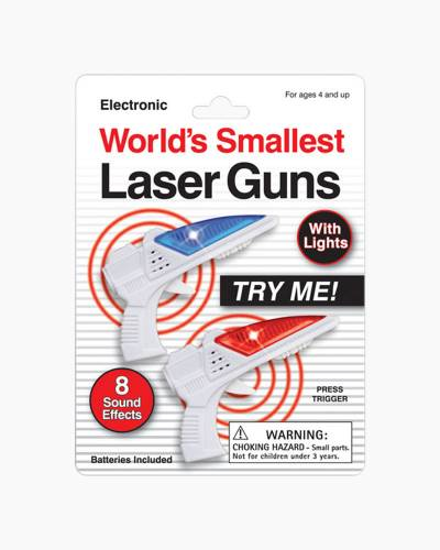 The World's Smallest Laser Guns (Set of 2)