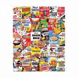 White Mountain Puzzles Cereal Boxes 1000-Piece Jigsaw Puzzle