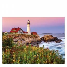 White Mountain Puzzles Maine Lighthouse 1000 Piece Puzzle