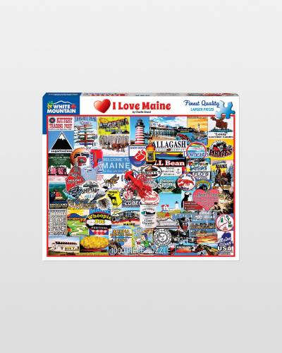 I Love Maine Jigsaw Puzzle (1,000 pc)