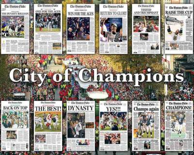 The Boston Globe City of Champions Jigsaw Puzzle (550 pc.)