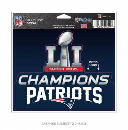 Wincraft New England Patriots Super Bowl LI Multi-Use Decal