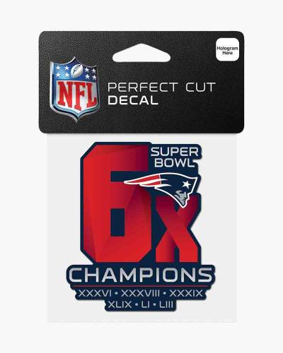 New England Patriots 6X Champions Die Cut Decal