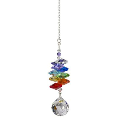 Rainbow reflecting Crystal Cascade Suncatcher