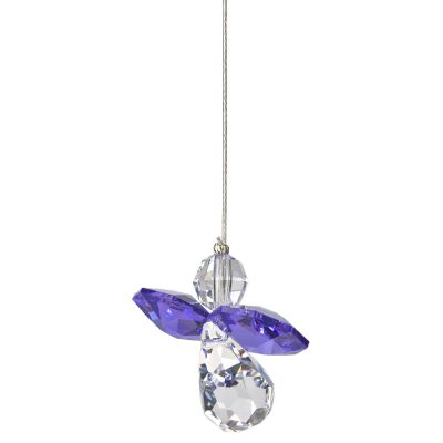 Crystal Guardian Angel Suncatcher - Amethyst
