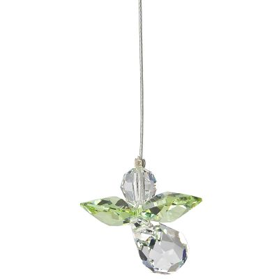 Crystal Guardian Angel Suncatcher - Peridot