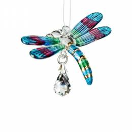 Woodstock Chimes Dragonfly Fantasy Glass Suncatcher