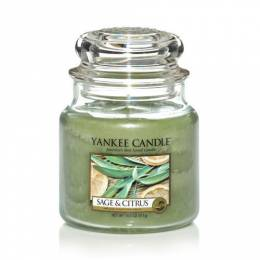 Yankee Candle Sage and Citrus Medium Jar Candle