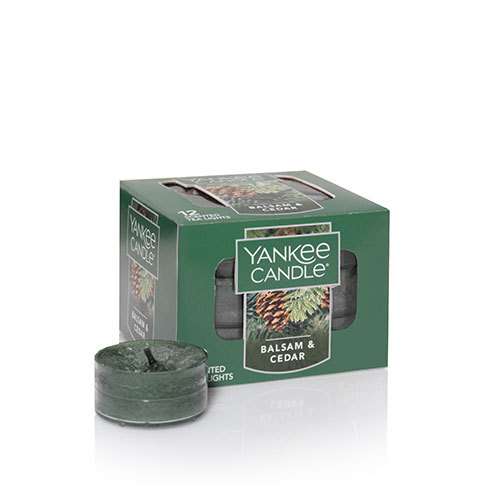 Yankee Candle Balsam and Cedar Scented Tea Lights (box of 12)