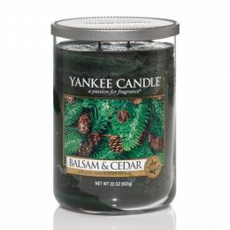Yankee Candle Balsam and Cedar Large 2-Wick Tumbler Candle