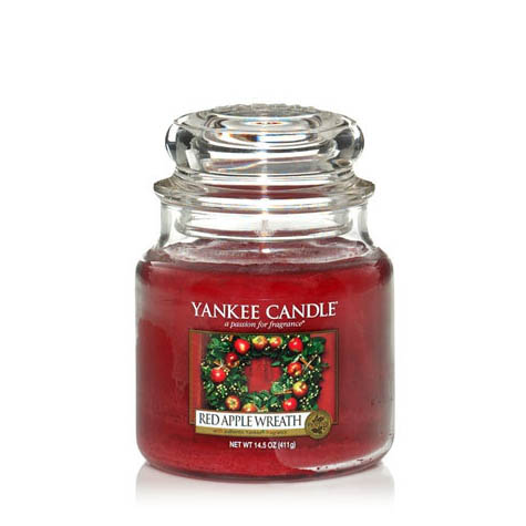 Yankee Candle Red Apple Wreath Medium Jar Candle