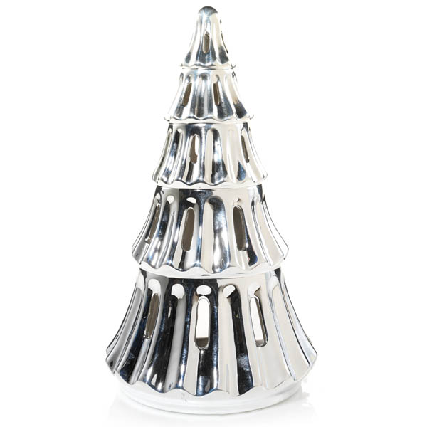 Yankee Candle Large Silver Tree Tea Light Candle Holder