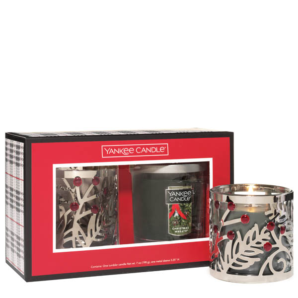 Yankee Candle Holly Tumbler Sleeve Gift Set
