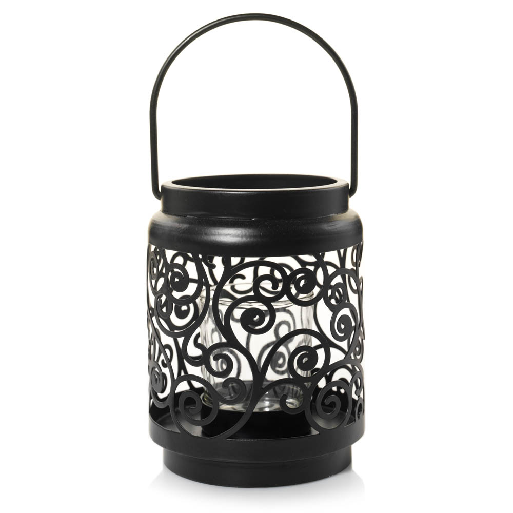 Yankee Candle Black Scroll Votive Candle Holder