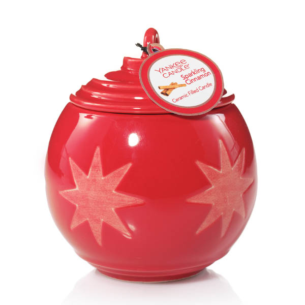 Yankee Candle Sparkling Cinnamon Holiday Stars Collection Ornament Candle