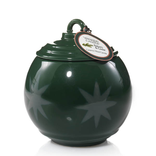 Yankee Candle Balsam and Cedar Holiday Stars Collection Ornament Candle