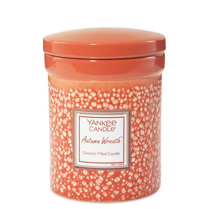 Yankee Candle Autumn Wreath Ceramic Crock Candle