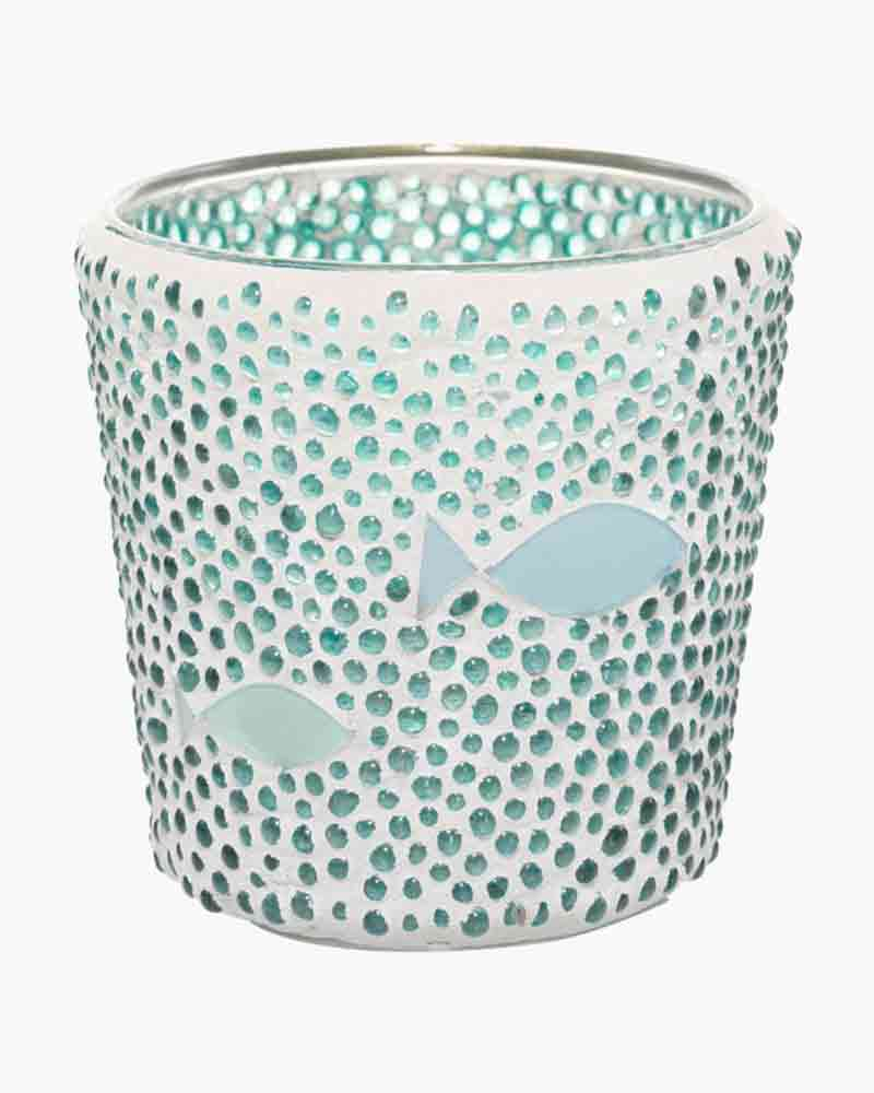 Yankee Candle Seaside Silhouette Bubble Mosaic Votive Candle Holder