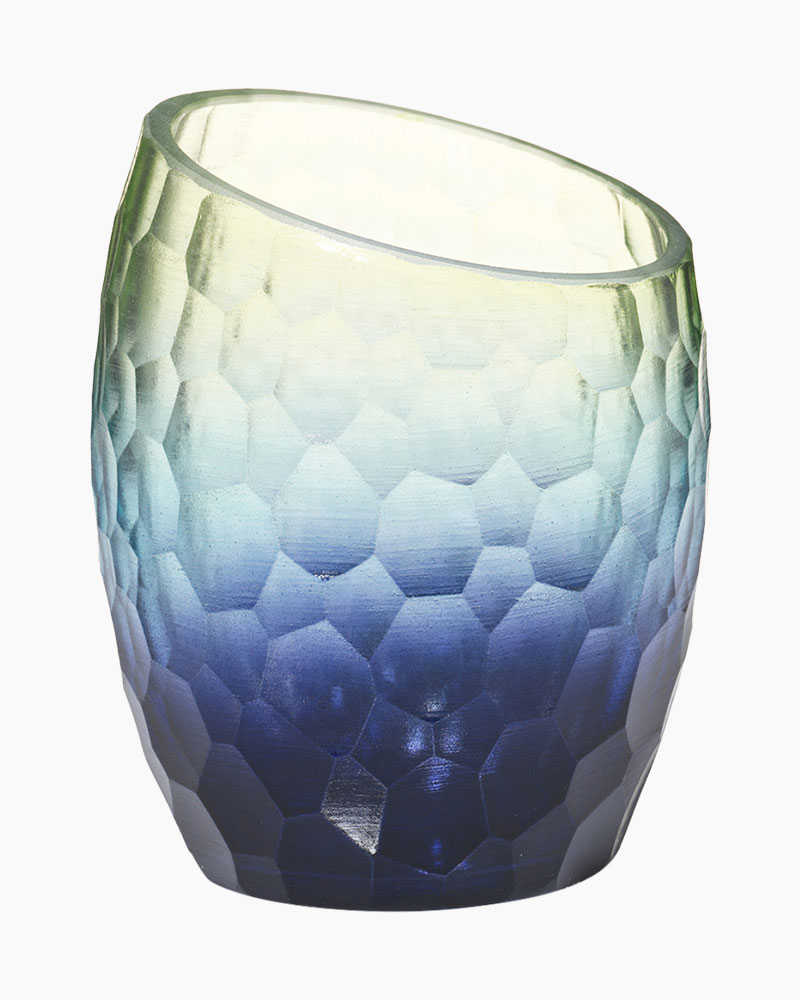 Aqua Marine Tea Light Candle Holder