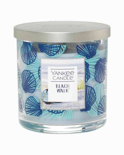 Beach Walk Seashells Decorated Small Tumbler Candle