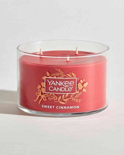 Sweet Cinnamon Round 3-Wick Candle