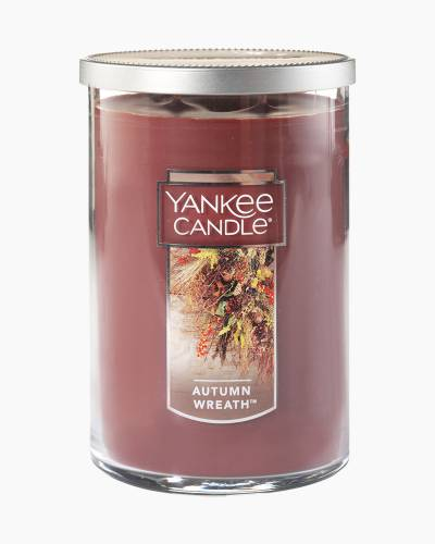 Autumn Wreath Large 2-Wick Tumbler Candle