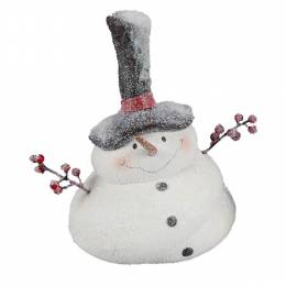 Young's inc. Snowman with Hat Figurine