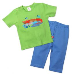 Zutano Crocs Baby Top and Bottom Set