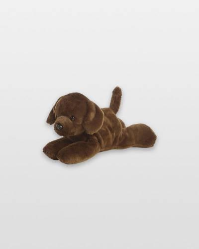 8-inch Little Lucky Chocolate Labrador Mini Plush