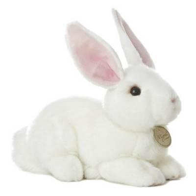 10-Inch Miyoni White Bunny