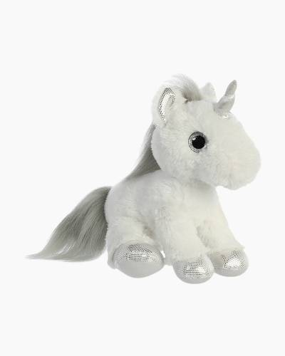Silver and White Unicorn Plush