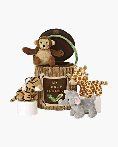 My Jungle Friends Plush Animals and Carrier Set