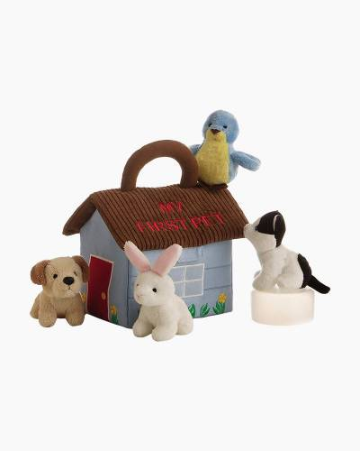My First Pet Stuffed Animals and Carrier Set
