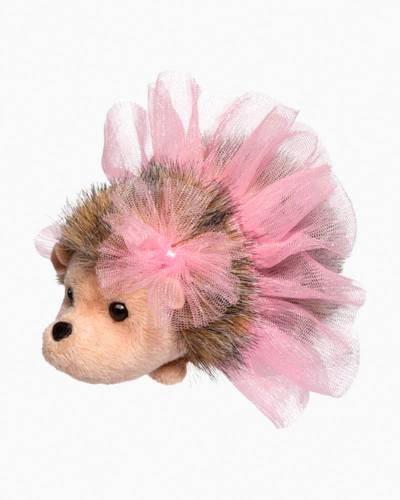 Pink Swirl Tutu Hedgehog Plush