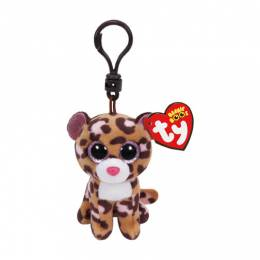 Ty Patches the Tan Leopard Beanie Boo's Plush Clip