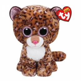 Ty Patches the Tan Leopard Beanie Boo's Medium Plush