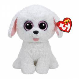 Ty Pippie the White Dog Beanie Boo's Medium Plush