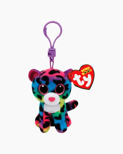 Dotty the Rainbow Leopard Beanie Boo's Clip