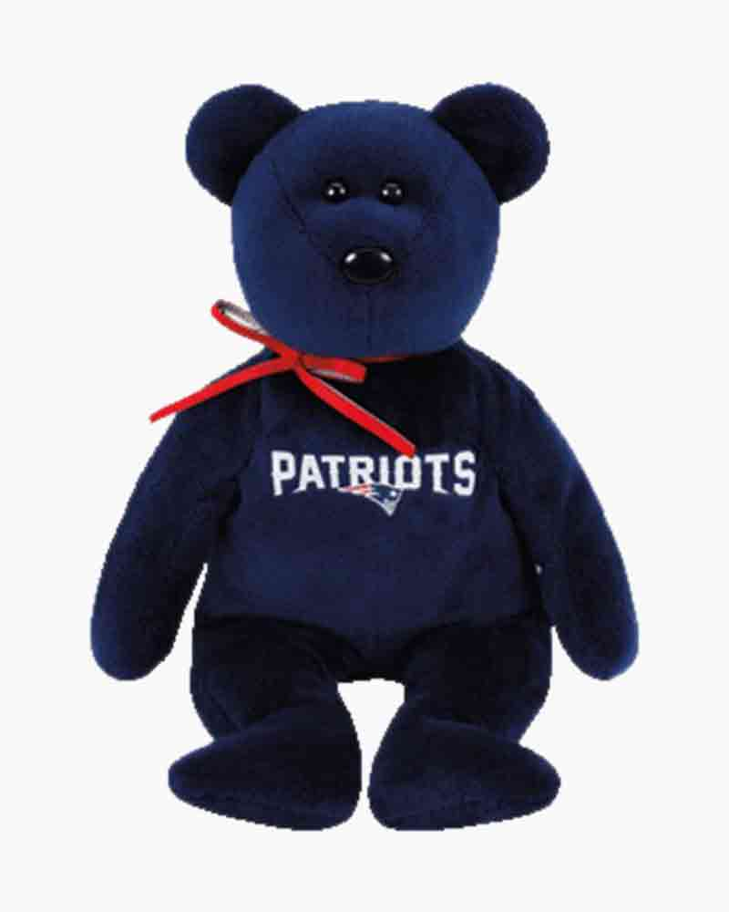 Ty New England Patriots Teddy Bear Beanie Baby