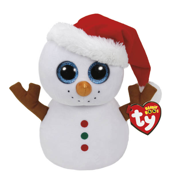 Ty Scoop the Snowman Beanie Boo's Medium Plush
