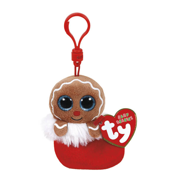 Ty Jingly the Gingerbread Man Beanie Boo's Clip