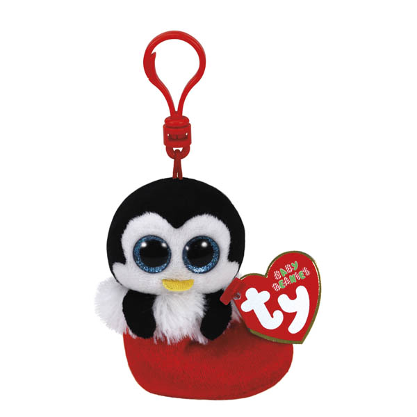 Ty Earmuffs the Penguin Beanie Boo's Clip