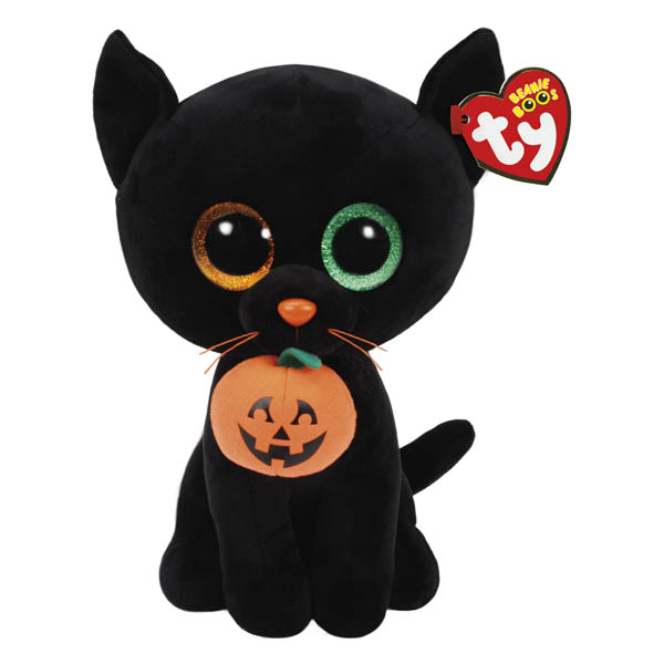 Ty Shadow the Black Cat Beanie Boo's Medium Plush