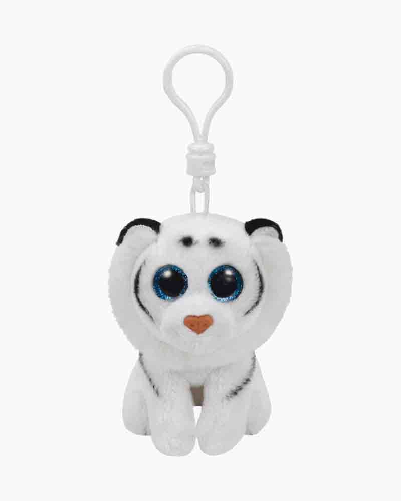 Ty Tundra the White Tiger Beanies Clip
